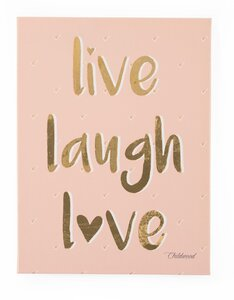 Childhome eļļas glezna Live Laugh Love 30x40 - Childhome